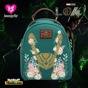Loungefly Marvel Loki Floral Mini Backpack - BoxLunch Exclusive