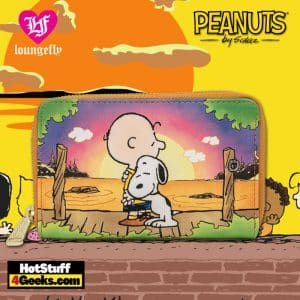 Loungefly Peanuts Charlie and Snoopy Sunset Zip Around Wallet