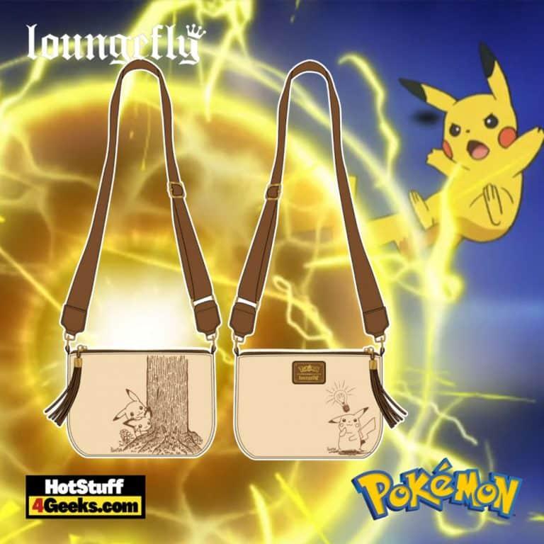 Loungefly Pokemon Sepia Pikachu Crossbody - pre-order July 2021 arrives August 2021