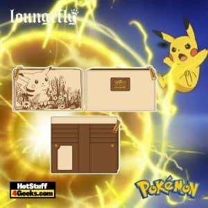 Loungefly Pokemon Sepia Pikachu Flap Wallet - pre-order July 2021 arrives August 2021