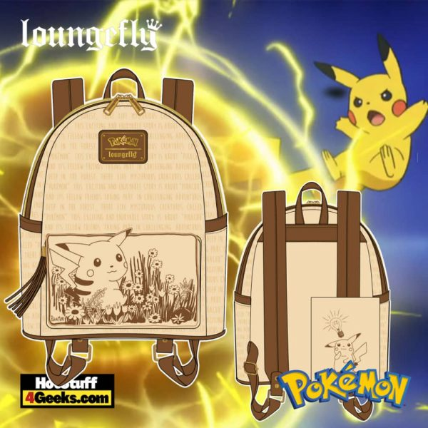 Loungefly Pokemon Sepia Pikachu Mini Backpack - pre-order July 2021 arrives August 2021