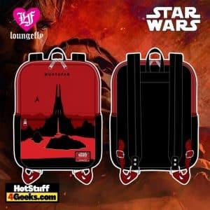 Loungefly Star Wars Mustafar Square Mini Backpack