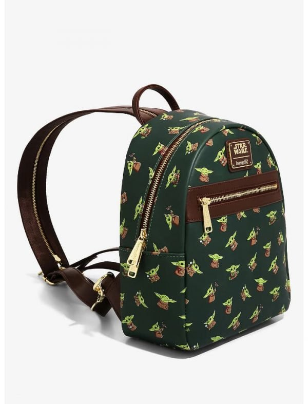 Loungefly Star Wars The Mandalorian The Child Chibi Print Mini Backpack - BoxLunch Exclusive