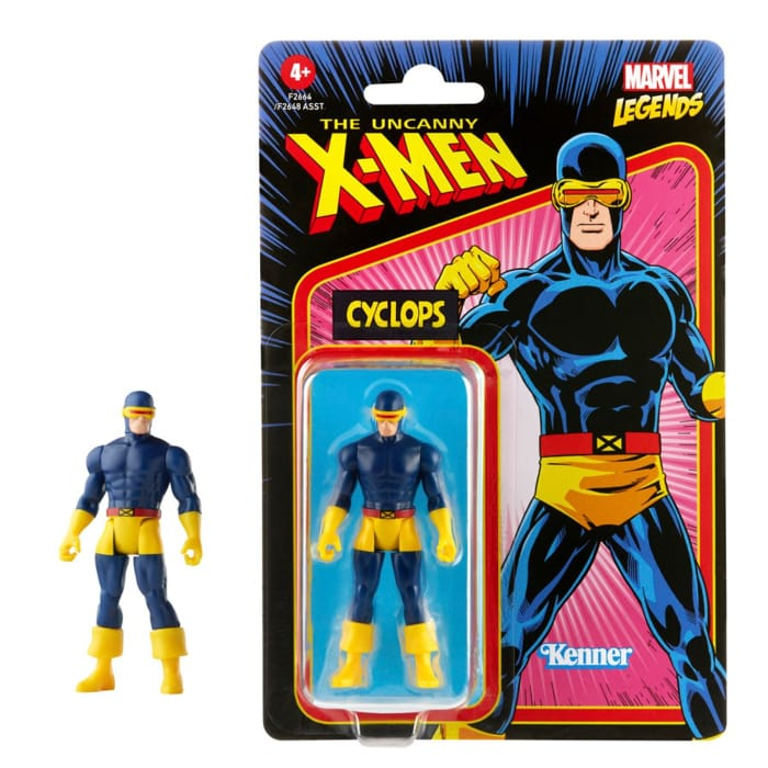 Marvel Legends Retro 375 Collection Cyclops 3 34-Inch Action Figure