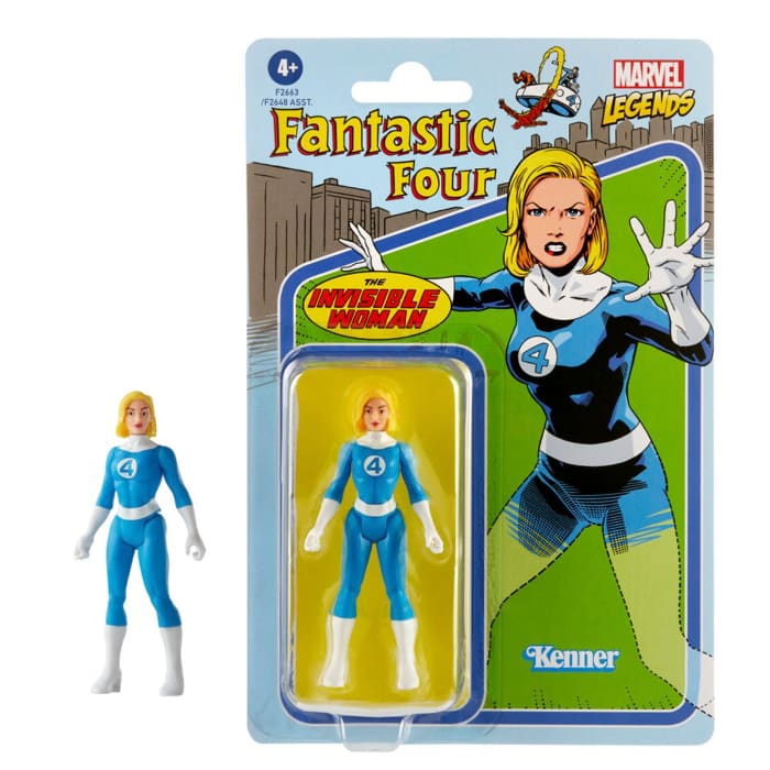 Marvel Legends Retro 375 Collection Invisible Woman 3 34-Inch Action Figure