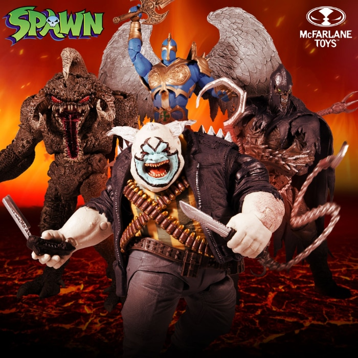 McFarlane Toys Spawn Raven Spawn, The Redeemer, The Violator, and The Clown Action Figures