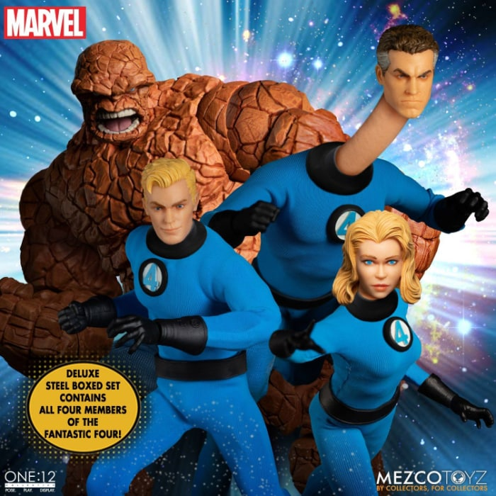 Mezco Toyz: Fantastic Four One12 Collective Deluxe Steel Boxed Set