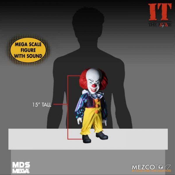 Mezco Toyz: IT (1990): Talking Pennywise MDS Mega Scale 15-Inch Doll