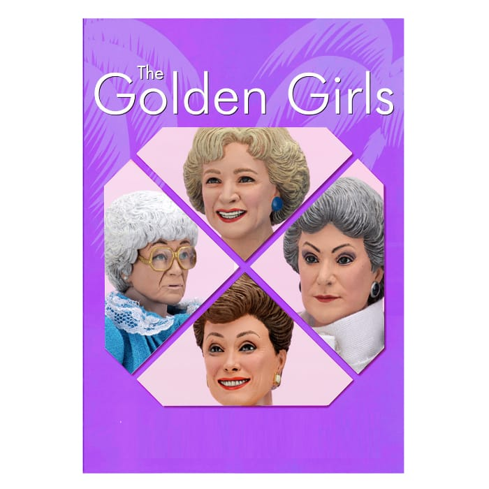 Neca: Golden Girls - Dorothy Zbornak, Rose Nylund, Blanche Devereaux, and Sophia Petrillo 8-Inch Clothed Action Figures