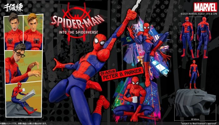 Spider-Man: Into The Spider-Verse – Peter Parker Spider-Man 6″ Scale SV-Action Action Figure