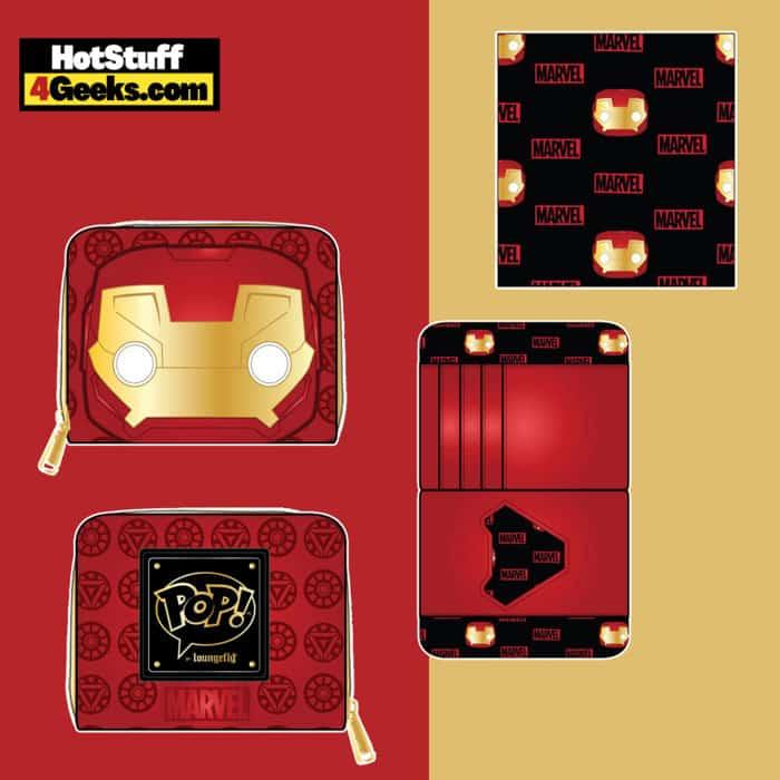 Pop By Loungefly Marvel Iron Man Head Zip Around Wallet