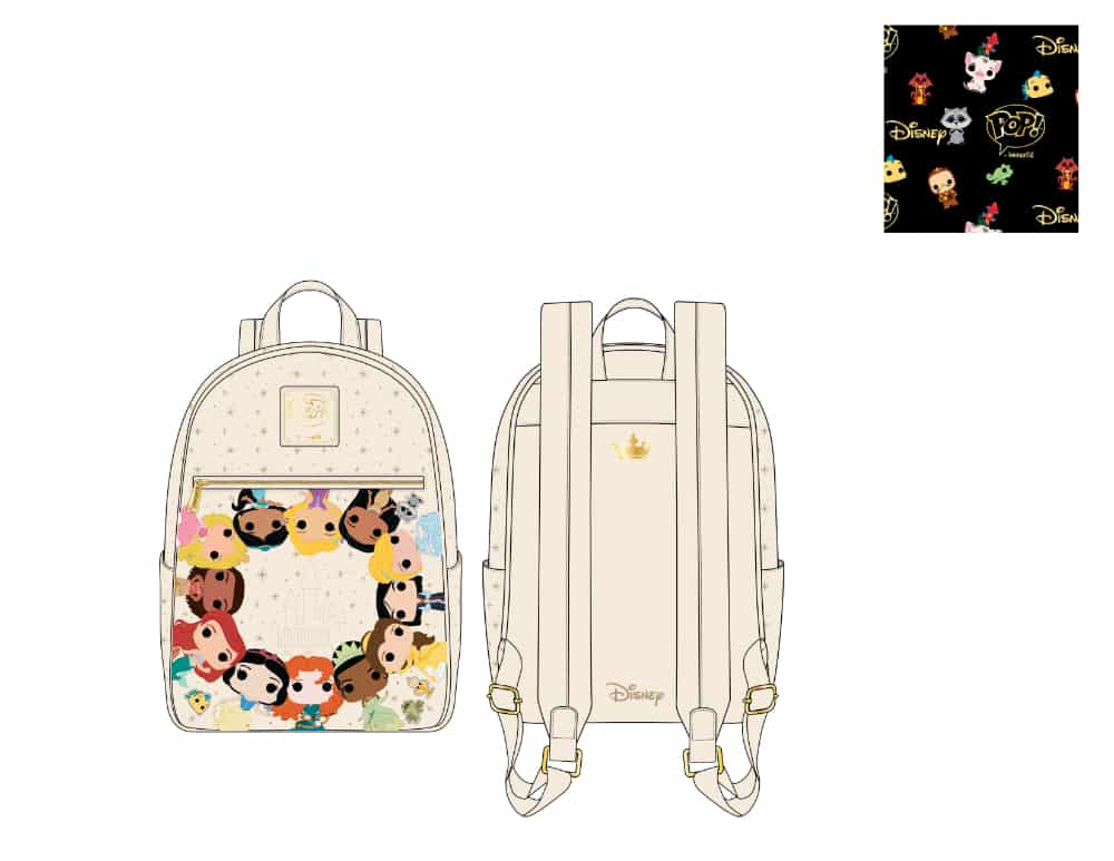 Pop by Loungefly Disney Princess Circles Mini Backpack - pre-order July 2021 arrives August 2021