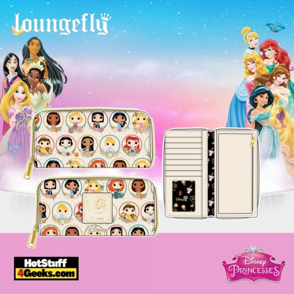 Pop by Loungefly Disney Princess Circles Zip Around Wallet - pre-order July 2021 arrives August 2021