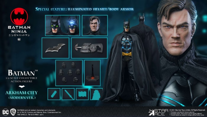 Star Ace Batman Ninja Modern Batman 16 Scale Action Figure Deluxe Version