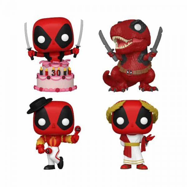 Funko POP! Marvel: Deadpool 30th Anniversary - 4PK Funko Pop! Vinyl Figures - Walmart Exclusive