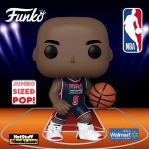 Funko POP! NBA: Michael Jordan (1992 Team USA Navy Uniform) 10-Inch Jumbo Sized Funko Pop! Vinyl Figure - Walmart Exclusive