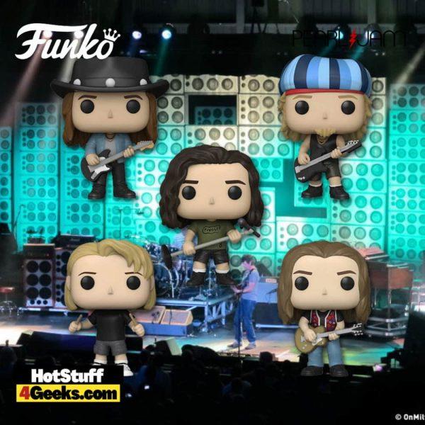Funko POP! Rocks: Pearl Jam - Mike McCready, Jeff Ament, Eddie Vedder, Matt Cameron, and Stone Gossard 5-pack Set Funko Pop! Vinyl Figures