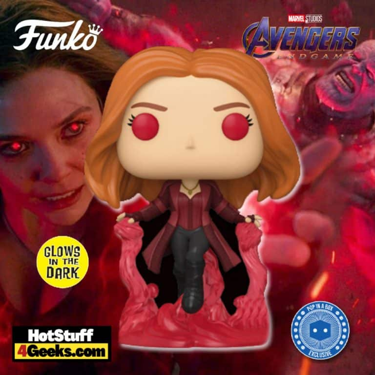 Funko Pop! Avengers Endgame: Wanda Maximoff (Scarlet Witch) Glow-In-The-Dark (GITD) Funko Pop! Vinyl Figure - Pop-In-A-Box (PIAB) Exclusive