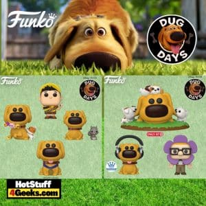 Funko Pop! Disney: Dug Days - Carl, Russel, Dug with Toys, Hero Dug, Dug with Squirrel, and Dug Covered in Puppies (Target Exclusive) Pop! Vinyl Figures