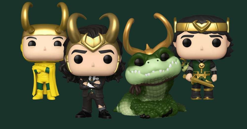 Funko Pop! Marvel Studios: Loki - Kid Loki with Alligator, President Loki, Alligator Loki, and Classic Loki Funko Pop! Vinyl Figures