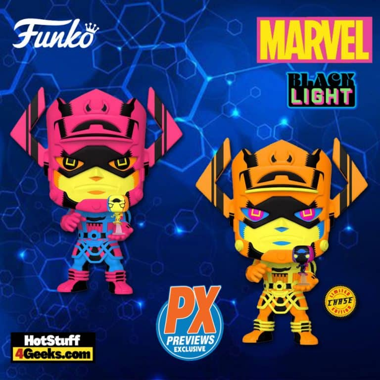 Funko Pop! Marvel: Galactus with Silver Surfer Black Light Version Jumbo 10-Inch with Glow-In-The-Dark-Chase (GITD) Funko Pop! Vinyl Figure – PX Previews Exclusive