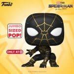 Funko Pop! Marvel - Spider-Man: No Way Home - Spider-Man Black and Gold Suit 10-inch Jumbo Sized Funko Pop! Vinyl Figure - Walmart Exclusive