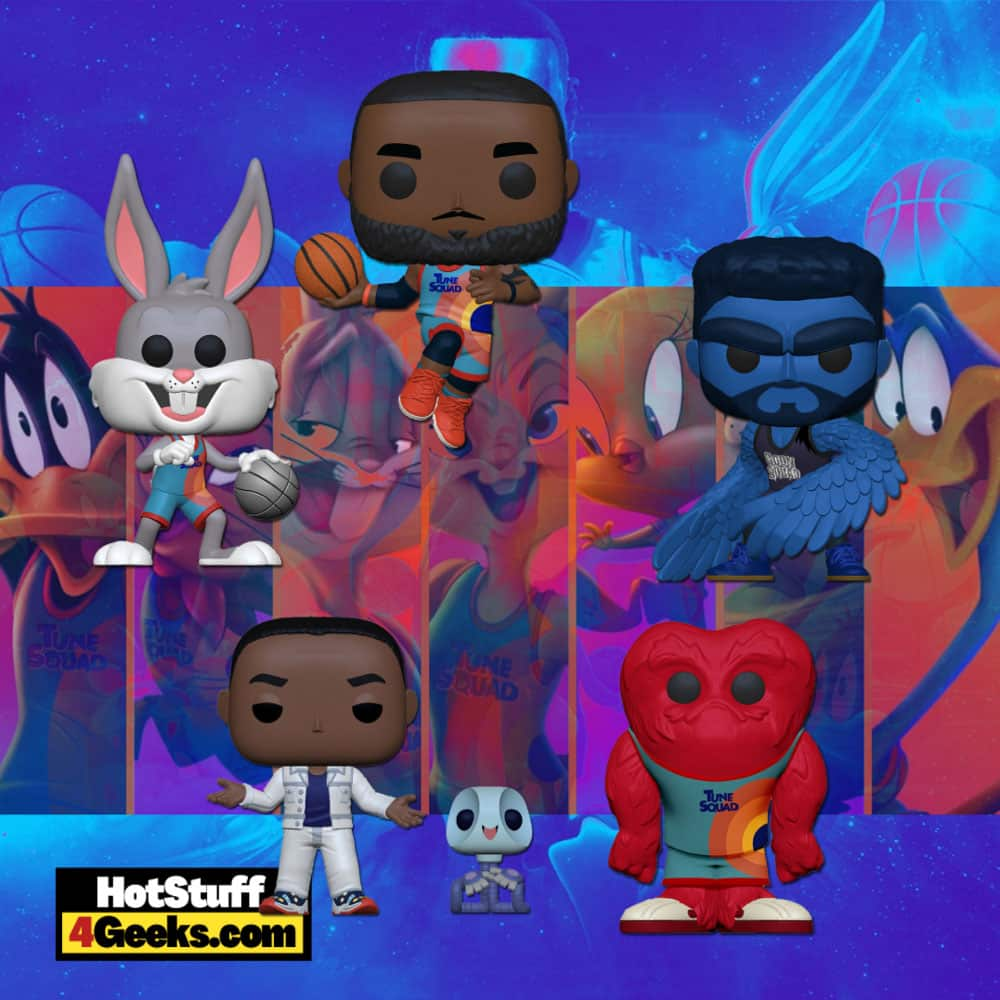 Funko Pop! Movies: Space Jam: A New Legacy – Gossamer, Bunny Dribbling, The Brow, Lebron James Leaping, and AI G and Pete Buddy Funko Pop! Figures