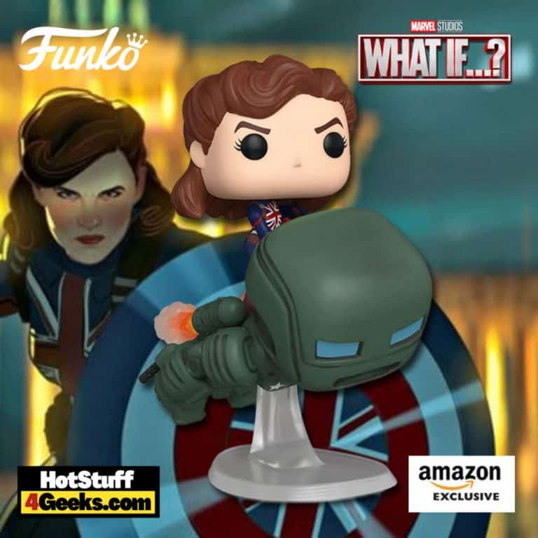 Funko Pop! Pop! Marvel: Marvel Studios' What If…? – Captain Carter and the Hydra Stomper Funko Pop! Vinyl Figure - Amazon Exclusive