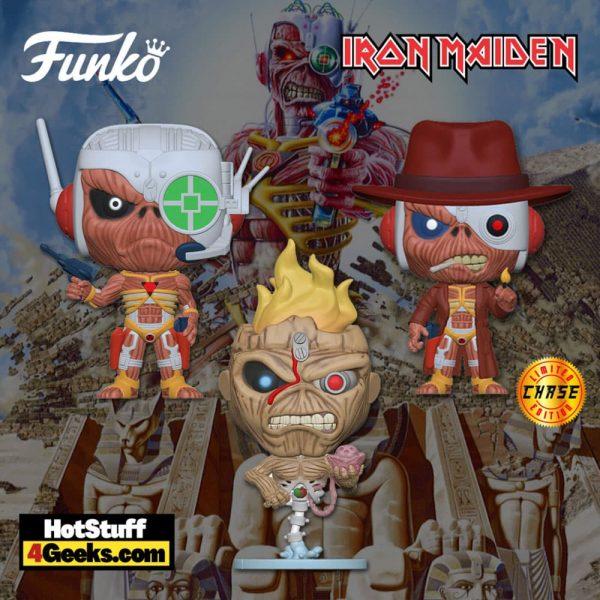 Funko Pop! Rocks: Iron Maiden - Eddie Seventh Son of Seventh, and Eddie Somewhere in Time Funko Pop! Vinyl Figures