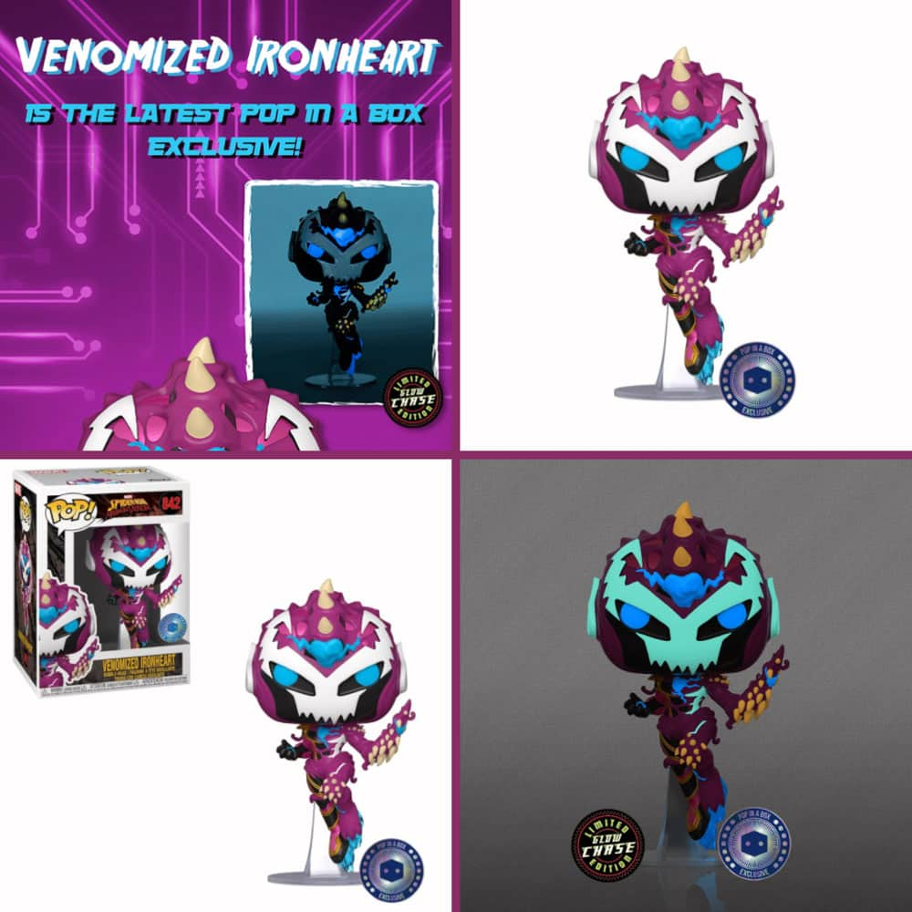 Funko Pop! Spiderman Maximum Venom: Venomized Ironheart with Glow-In-the Dark (GITD) Chase Funko Pop! Vinyl Figure - PIAB Exclusive