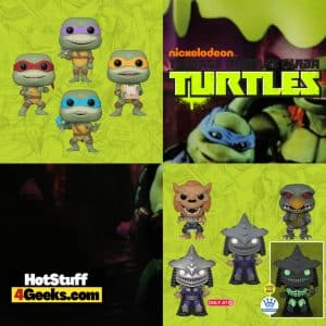 Funko Pop! Teenage Mutant Ninja Turtles(TMNT) II: The Secret Of The Ooze - Raphael, Michelangelo, Donatello, Leonardo, Rahzar, Tokka, and Super Shredder Funko Pop! Vinyl Figures