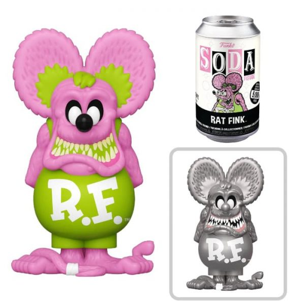 Funko Vinyl Soda Rat Fink - Neon Rat Fink Vinyl Soda Figure with Metallic Chase