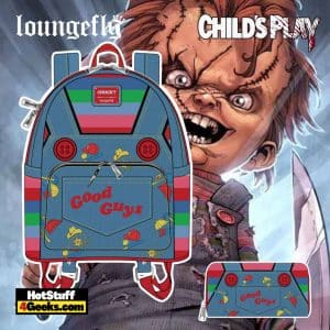 Loungefly Childs Play Chucky Cosplay Mini Backpack and Wallet - pre-order August arrives September 2021