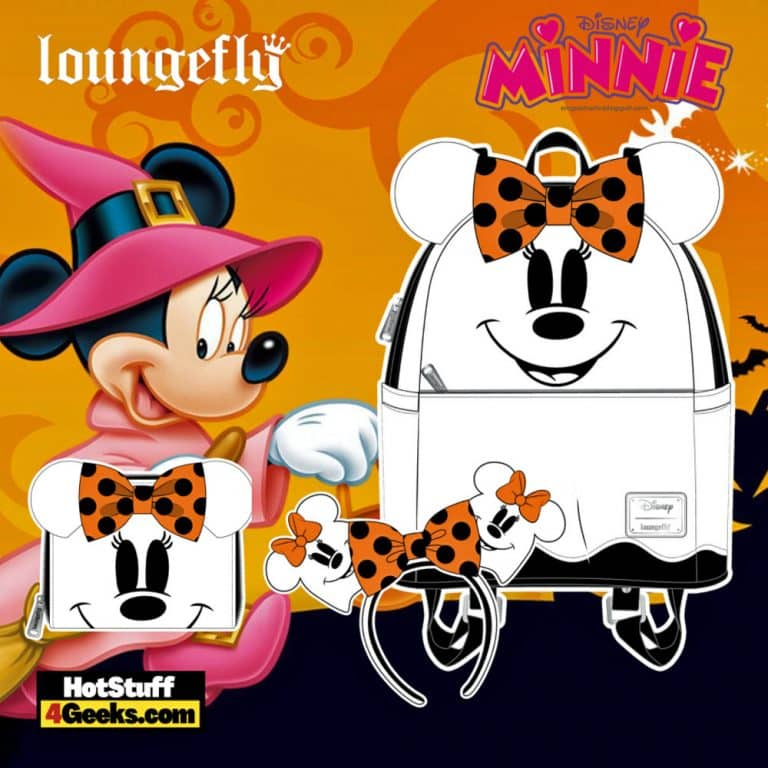 Loungefly Disney Ghost Minnie Glow In The Dark (GITD) Mini Backpack, Wallet, and Headband - pre-order August arrives September 2021