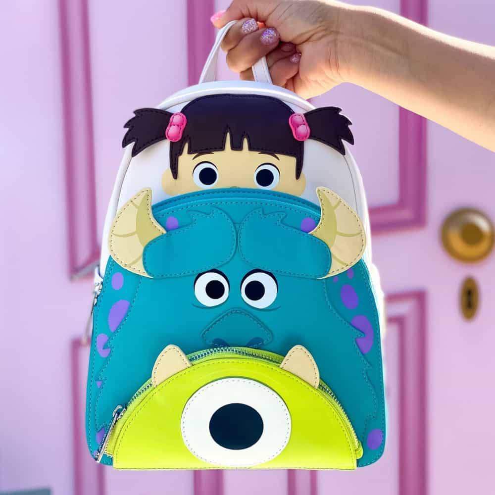 Loungefly Disney Pixar Monsters Inc Boo Mike Sully Cosplay Mini Backpack