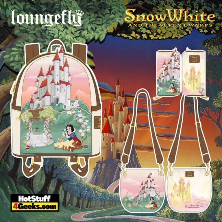 Loungefly Disney Snow White Castle Series Mini Backpack, Crossbody, and Wallet - pre-order August arrives September 2021