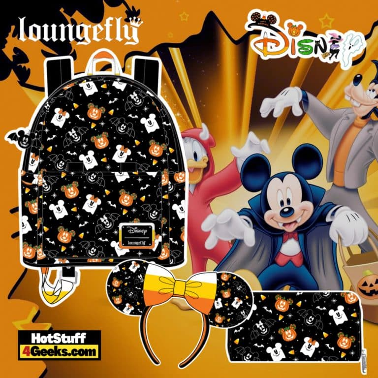 Loungefly Disney Spooky Mice Mini Backpack and Headband Set and Candy Corn Headband and Wallet - pre-order August arrives September 2021