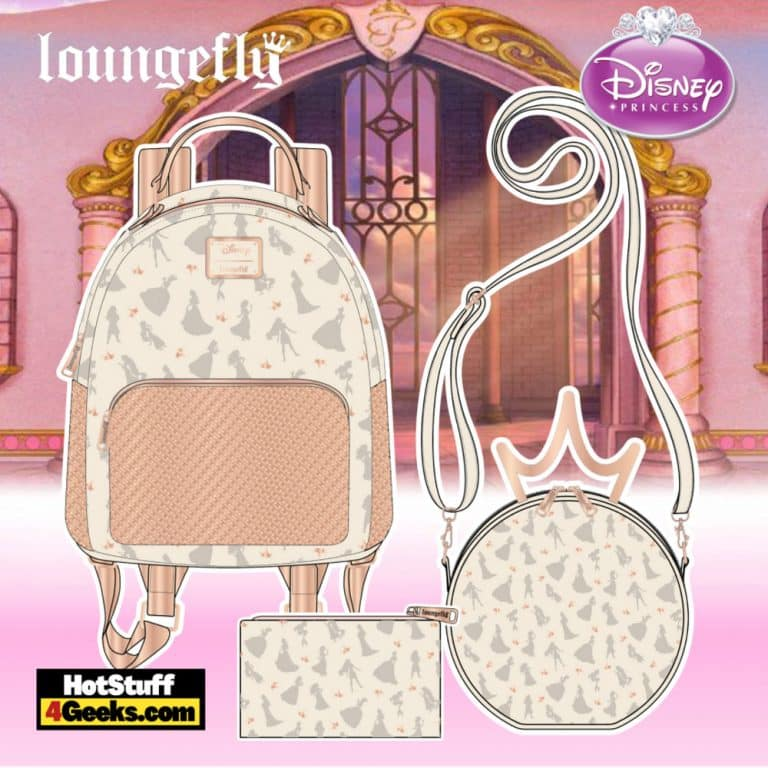 Loungefly Disney Ultimate Princess Sequin Mini Backpack, Crossbody and Wallet - pre-order August arrives September 2021
