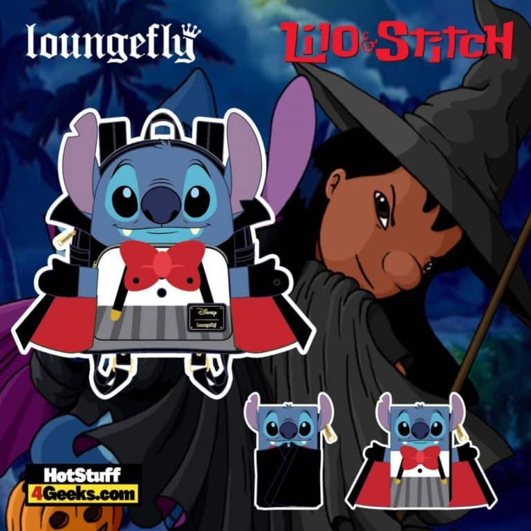 Loungefly Disney Vampire Stitch Bow Tie Mini Backpack and Wallet - pre-order August arrives September 2021