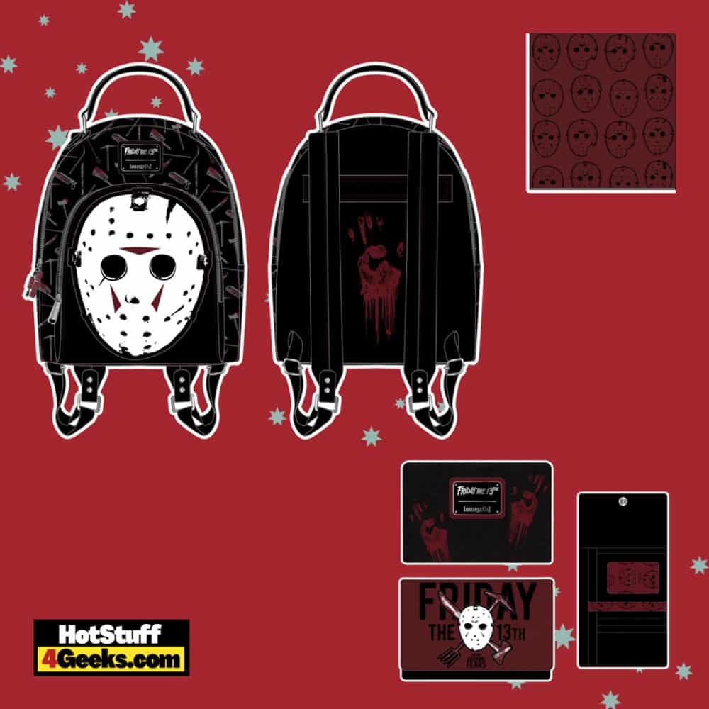 Loungefly Friday The 13th: Jason Mask Mini Backpack and Wallet - pre-order August arrives September 2021