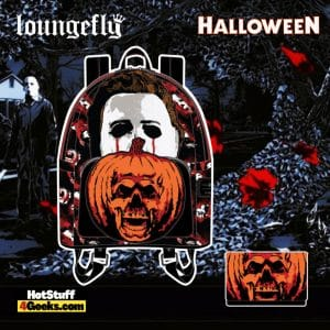 Loungefly Halloween II Michael Myers Pumpkin Mini Backpack and Wallet - pre-order August arrives September 2021