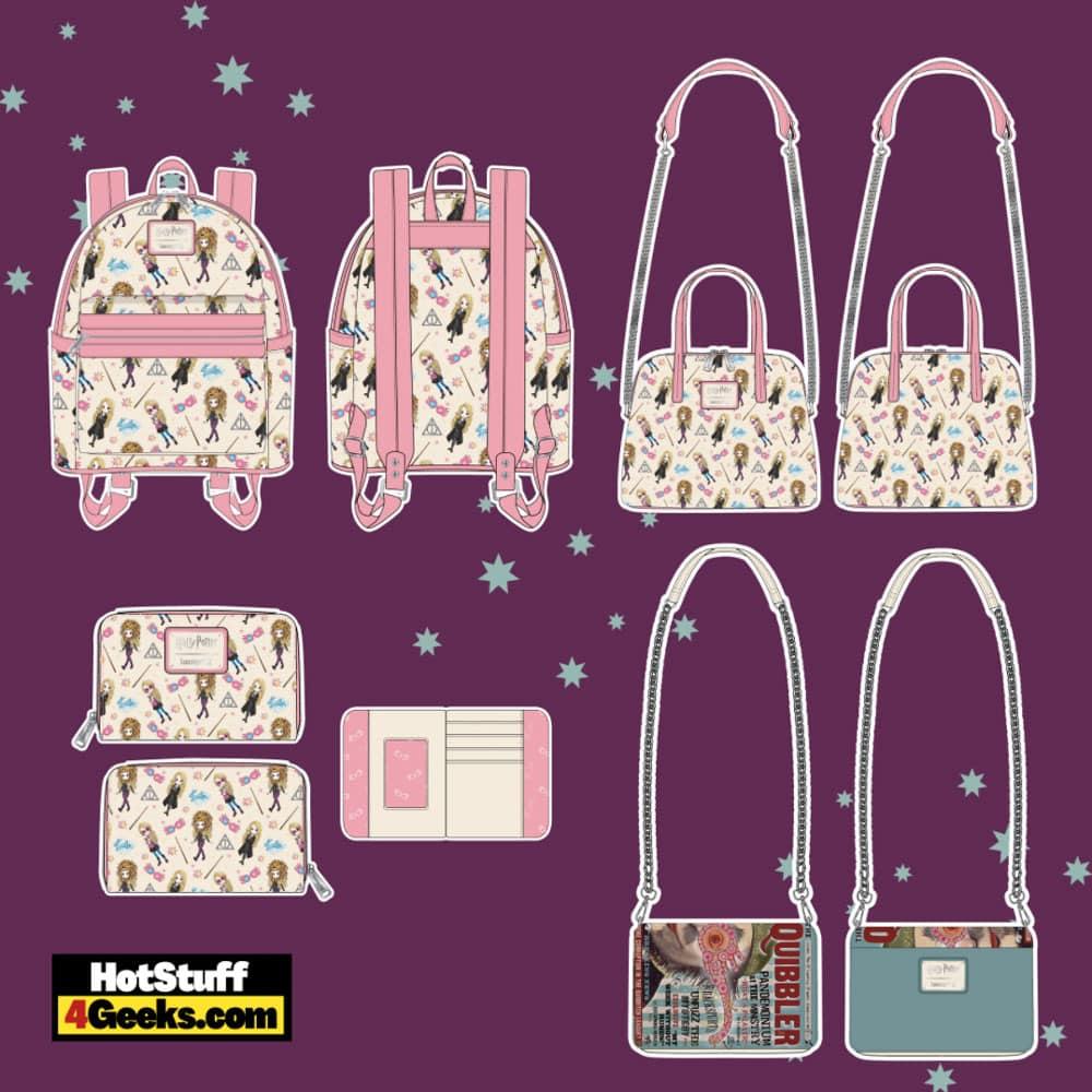 Loungefly Harry Potter: Luna Lovegood Mini Backpack, Wallet, Crossbody and Quibbler Crossbody - pre-order August arrives September 2021