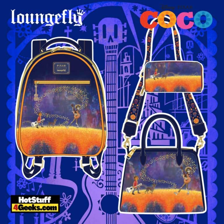 Loungefly Pixar Coco: Marigold Bridge Mini Backpack, Crossbody and Wallet - pre-order August arrives September 2021