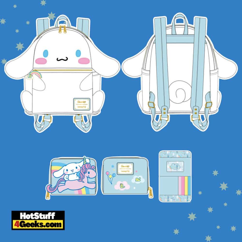 Loungefly Sanrio Cinnamaroll Mini Backpack and Wallet - pre-order August 2021 arrives September