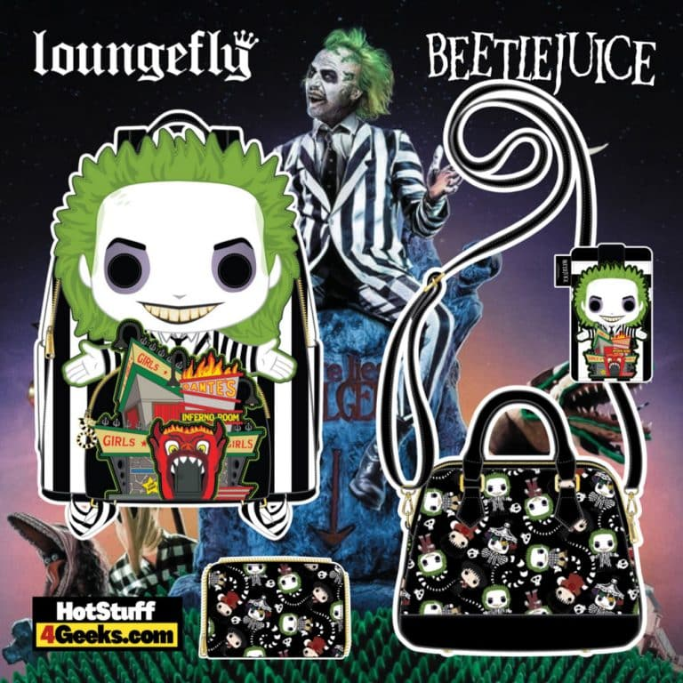 Pop by Loungefly Beetlejuice: Dantes Inferno Mini Backpack, Crossbody, Wallet, and CardHolder - pre-order August arrives September 2021