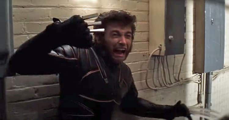 In the movie, the real Wolverine breaks Mystique's claws with ease