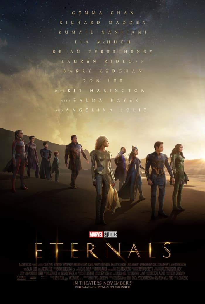 Eternals poster shows heroes in their battle suits