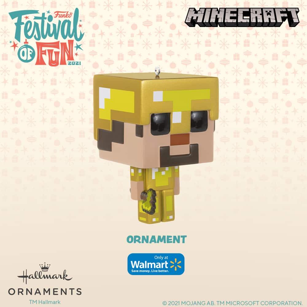 Funko Minecraft - Steve in Gold Armor Christmas Hallmark ornament