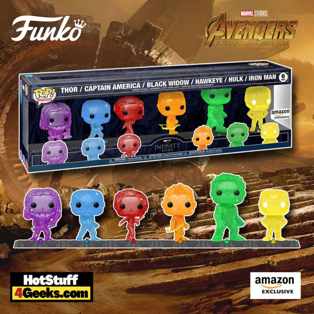 Funko POP! Artist Series: Marvel Studios - Infinity Saga - Avengers with Base (6 Pack) Funko Pop! Vinyl Figures - Amazon Exclusive