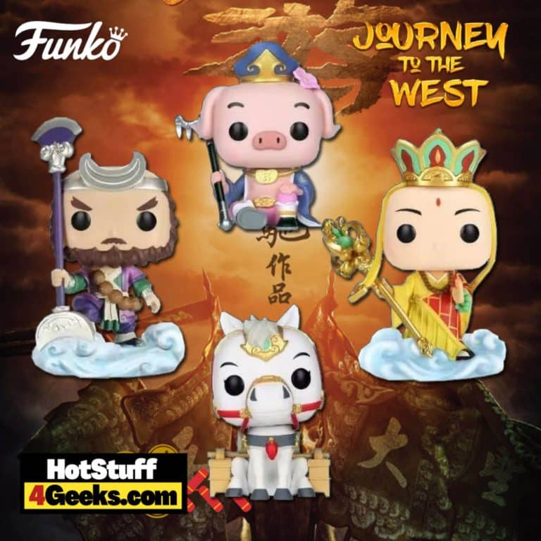 Funko POP! Asia: Journey to the West - White Dragon Horse, Tripitaka, Pigsy, and Sandy Funko Pop! Vinyl Figures - (2021) China Edition